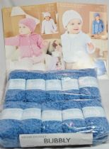Sirdar Snuggly Bubbly 50g - 10 Ball Pack with TWO FREE PATTERNS 4552 & 4558. 105 A CRUSH ON BLUE